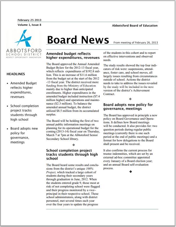 Board News
