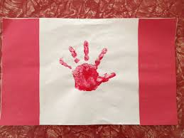 Canada Flag childs hand