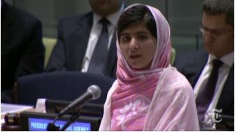 Malala at the UN