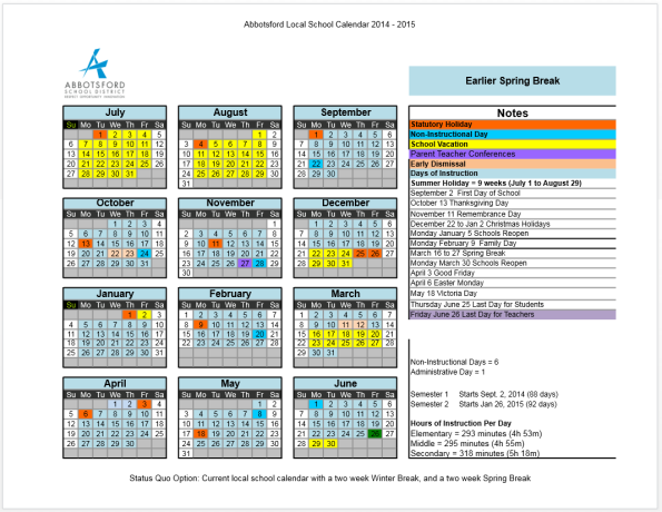 Florida state university spring break 2015 dates