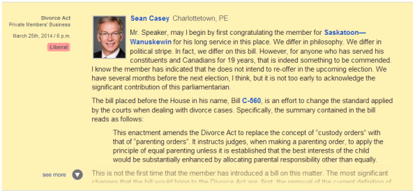 Sean Casey on Bill C-560