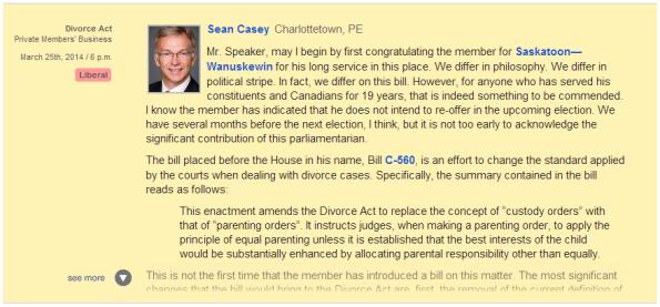 Sean Casey on Bill C-560